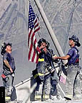 911 Firefighters with Flag